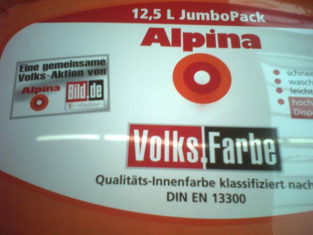Vogelmann Farbe Fur Das Volk Alpina Volk Wandfarbe Bild Weiss