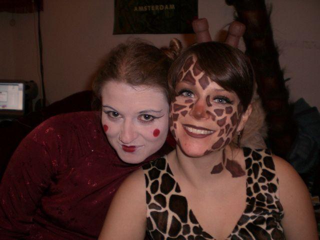 nina g g geisha karneval nina kost m meike giraffe. Black Bedroom Furniture Sets. Home Design Ideas