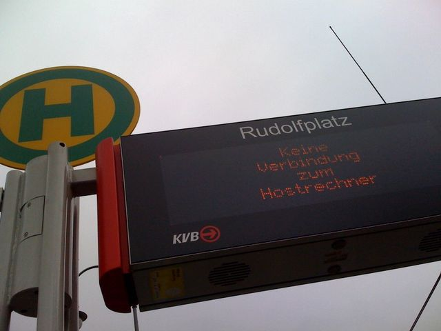 rudoffline anzeige display kvb rudolfplatz led